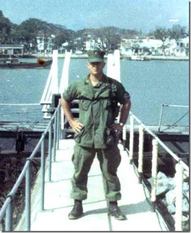 Russ at 3rd MAF HQ, Da Nang in bkgrnd