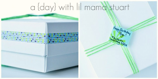 washi tape wrap presents