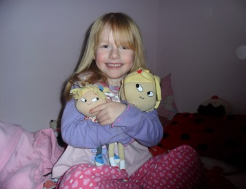Miss B and her Lola dolls