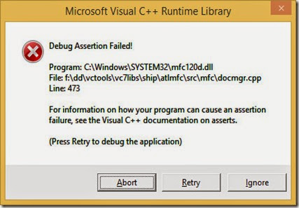Debug configuration runtime error