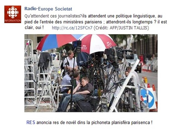 Radio Canada a l'espèra lenga de França