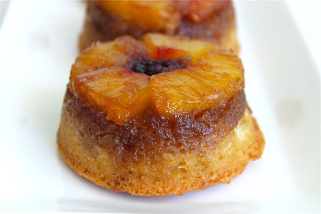 Mini Pineapple {Coconut} Upside-Down Cakes