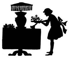 Vintage Cleaning Silhouette