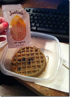 waffle and pb
