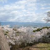 飯田市かざこし子どもの森公園から見た飯田市市街のほう