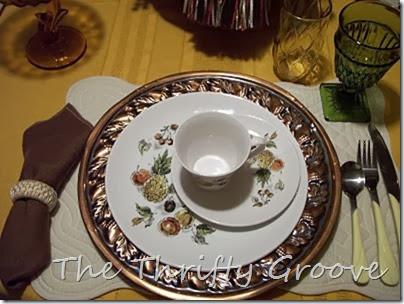 Vintage Myott & Copper Tablescape 013