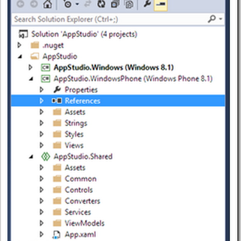 From Studio to Studio - Apps made in App Studio, opened in Visual Studio