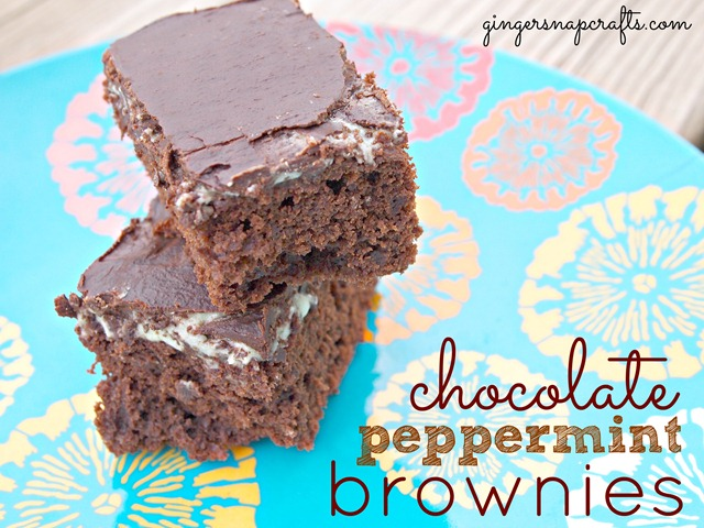 chocolate peppermint brownies made with Silk Soy Milk