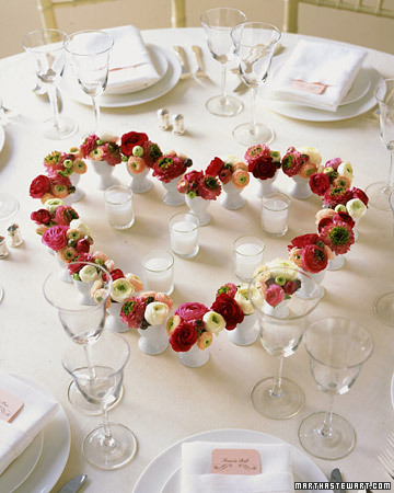 These small flowers take on a larger presence when they're arranged together to form a heart.