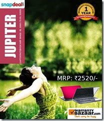 Buy Extended Warranty Pack for any Laptop at Rs. 992  – Jupiter ( MRP Rs.20001-Rs.30000)