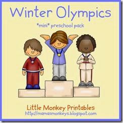 preschool pack, winter olympics
