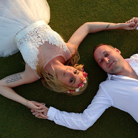 Bohemian Bride by Andrew Morgan - Wedding Bride & Groom ( love, zanzibar, happy, wedding, bohemian )