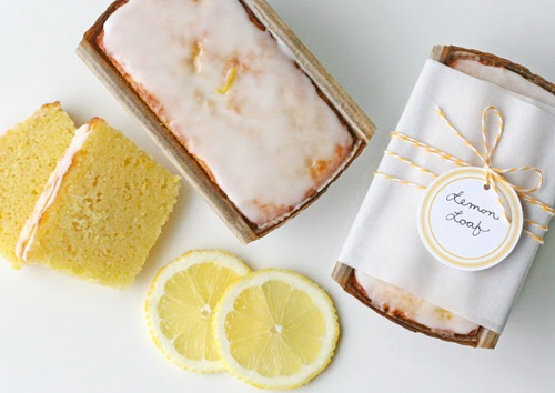 lemon bread packaging at glorious treats