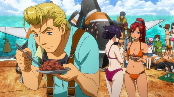 Suisei No Gargantia Beach Party