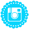 Bright Blue Media Icon - Instagram