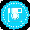 Bright Blue Media Icon - Instagram