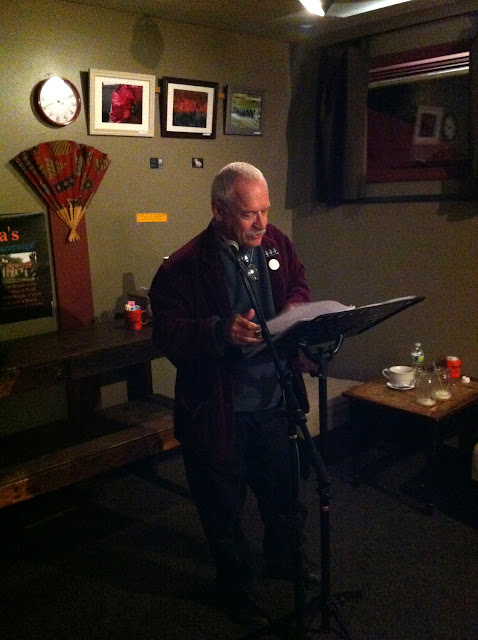 Dan Wilcox at the last Professor Java's Wide Open Mic