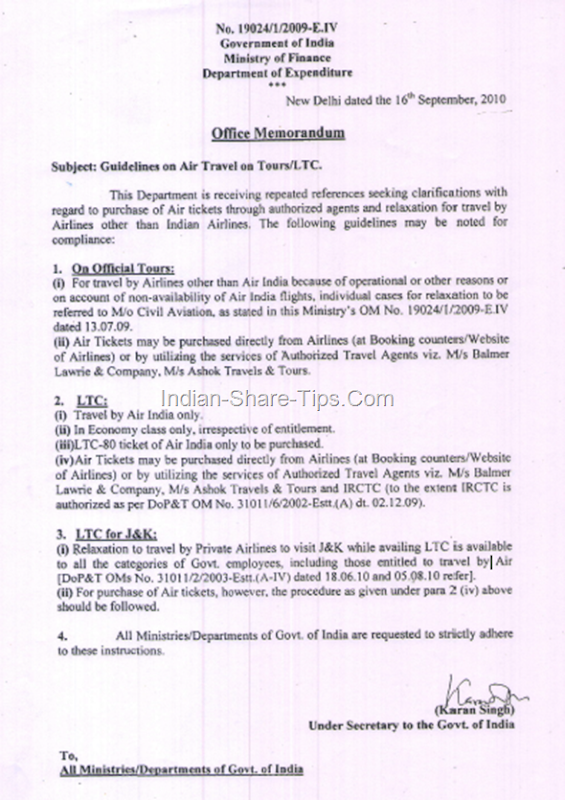 guidelines on air travel on tours and LTC