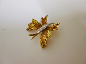 18KT and Platinum Tiffany and Co. Brooch
