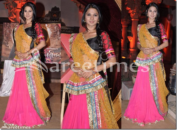 Pink_and_Mustard_Lehenga