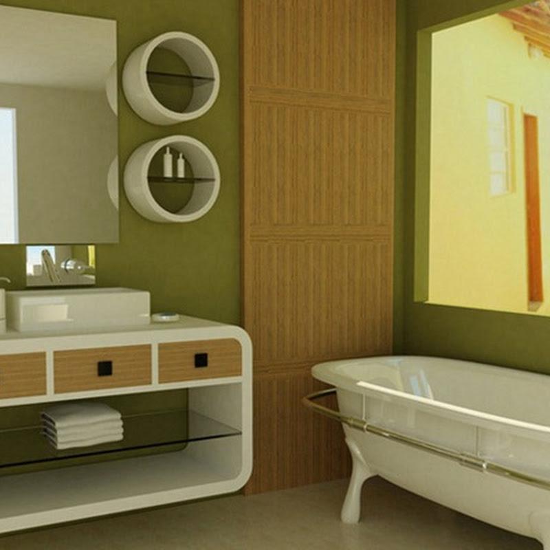 Baños Color Verde Oscuro:18 Diseños de Baños en color verde – iDecorar