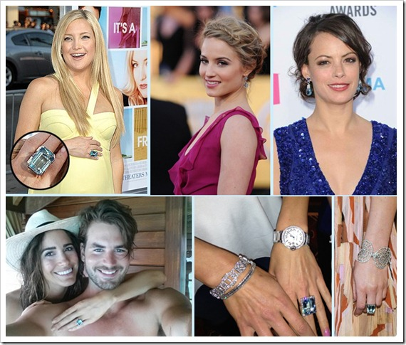 Celebs love Aquamarine Jewelry!