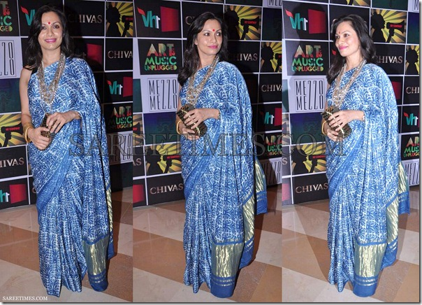Blue_Designer_Printed_Saree