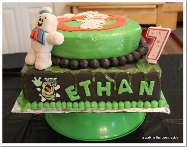 ghostbusters birthday party cake