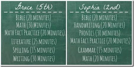 Wednesday-Friday Schedule