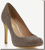 Head over Heels by Dune Glitter Court Shoe