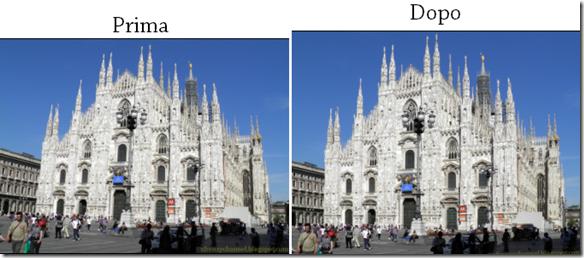 ShiftN esempio di correzione prospettiva fotografica Prima e Dopo con ShiftN