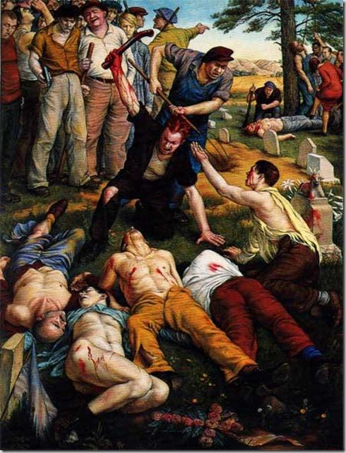 Paul Cadmus, Herrin Massacre, 1940