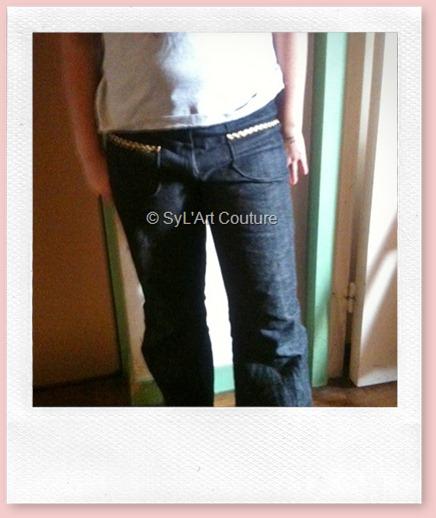 Pantalon jean fille1
