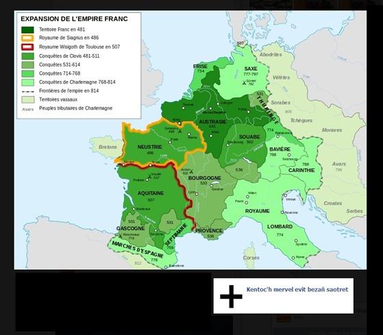 Tractat d'Angers mapa de l'empèri dels francs