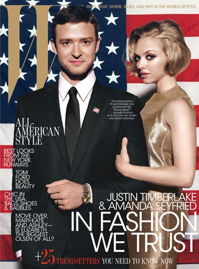 Justin Timberlake + Amanda Seyfried by Michael Thompson for W magazine, October 2011.  Styled by Edward Enninful | www.wmagazine.com
