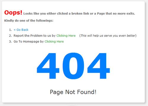 404 error page blogger