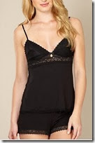 B by Ted Baker Black Lace Camisole and Shorts Set