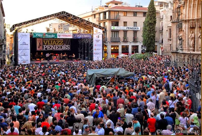 Plaça de Jaume I, Vilafranca, 1-7-2007