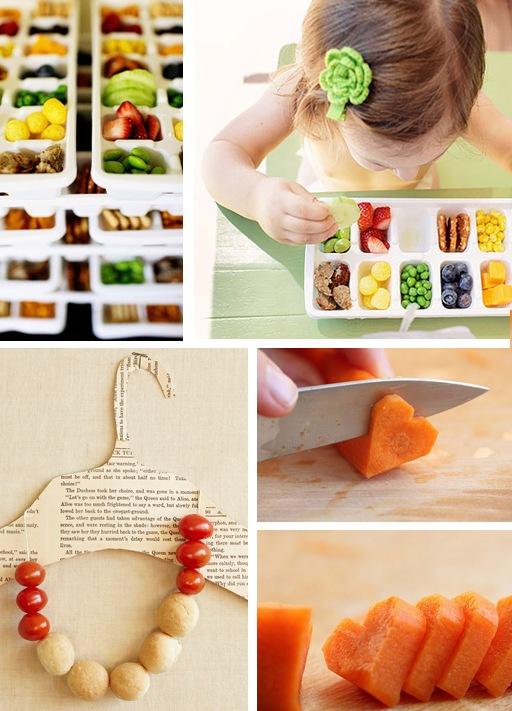 verdure crude per i bambini - collage