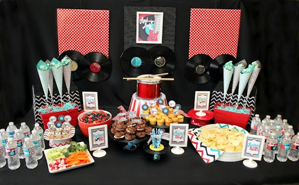 Rock A Bye Baby Shower Food Table
