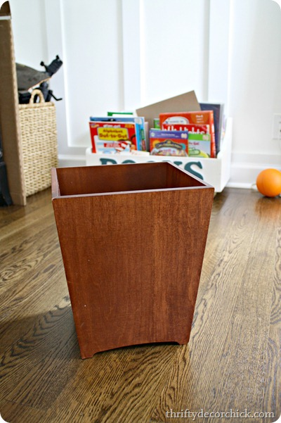 wooden-trash-can