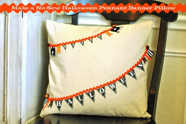 No sew happy halloween pillow pin