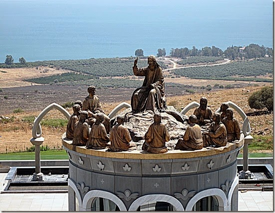 Sculpture Jesus teaches Apostles - Holy Land