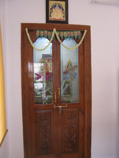 Pooja room carving door designs joy studio design for Room design door