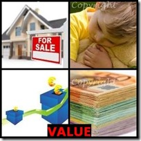 VALUE- 4 Pics 1 Word Answers 3 Letters