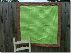 Green Polka dot quilt #2