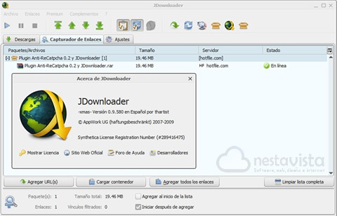 Descargar jdownloader