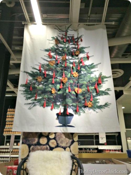 christmas tree fabric ikea