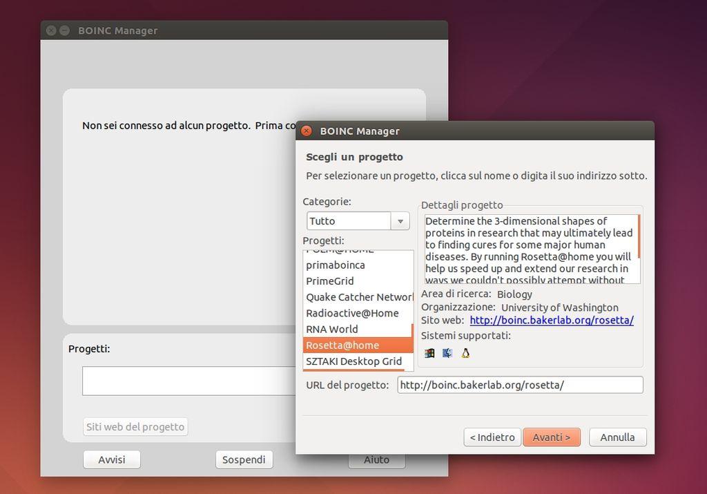BOINC Manager in Ubuntu Linux