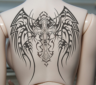 tribal back tattoo